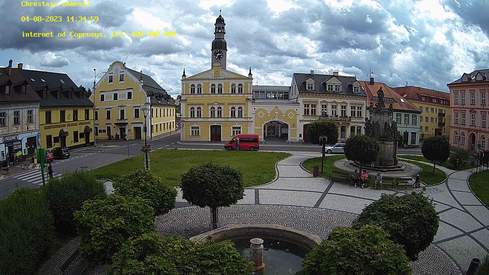 foto z kamery na náměstí